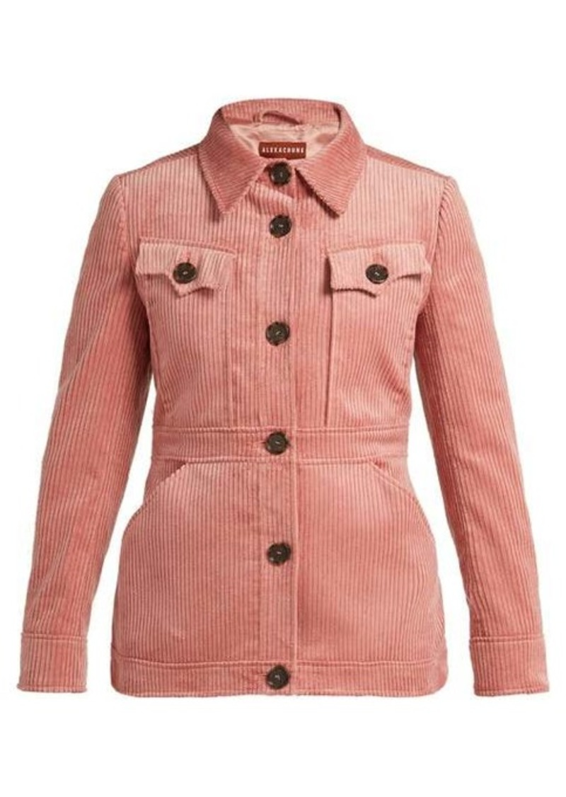 Alexa Chung Alexachung Patch-pocket corduroy jacket