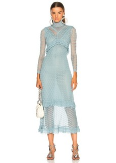 Alexa Chung ALEXACHUNG Patchwork Fine Knit Lace Dress