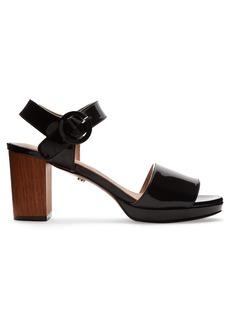Alexa Chung Alexachung Patent-leather block-heel sandals