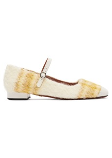 Alexa Chung Alexachung Patent leather-trimmed checked Mary-Jane flats