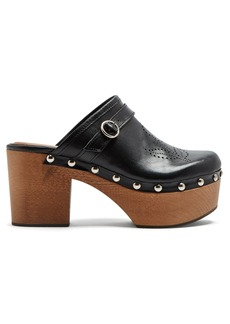 Alexa Chung Alexachung Perforated leather clogs