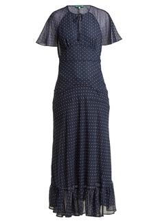Alexa Chung Alexachung Polka dot-print crepe dress