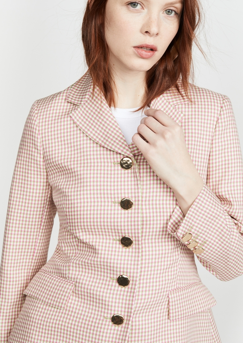 Alexa Chung ALEXACHUNG Single Breasted Jacket Houndstooth