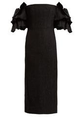 Alexa Chung Alexachung Tiered-sleeve cloqué dress