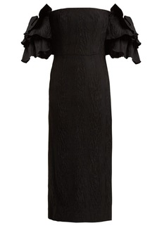 Alexa Chung Alexachung Tiered-sleeve cloqué dress