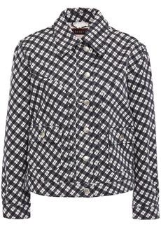 Alexa Chung Alexachung Woman Checked Cotton-blend Gabardine Jacket Black