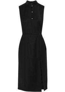 Alexa Chung Alexachung Woman Crystal-embellished Wool-blend Dress Black