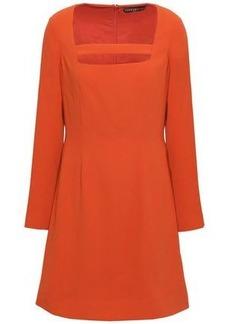Alexa Chung Alexachung Woman Cutout Crepe Mini Dress Orange