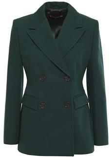 Alexa Chung Alexachung Woman Double-breasted Cotton-blend Twill Blazer Dark Green