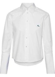 Alexa Chung Alexachung Woman Embroidered Cotton-poplin Shirt White