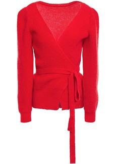 Alexa Chung Alexachung Woman Mohair-blend Wrap Cardigan Tomato Red