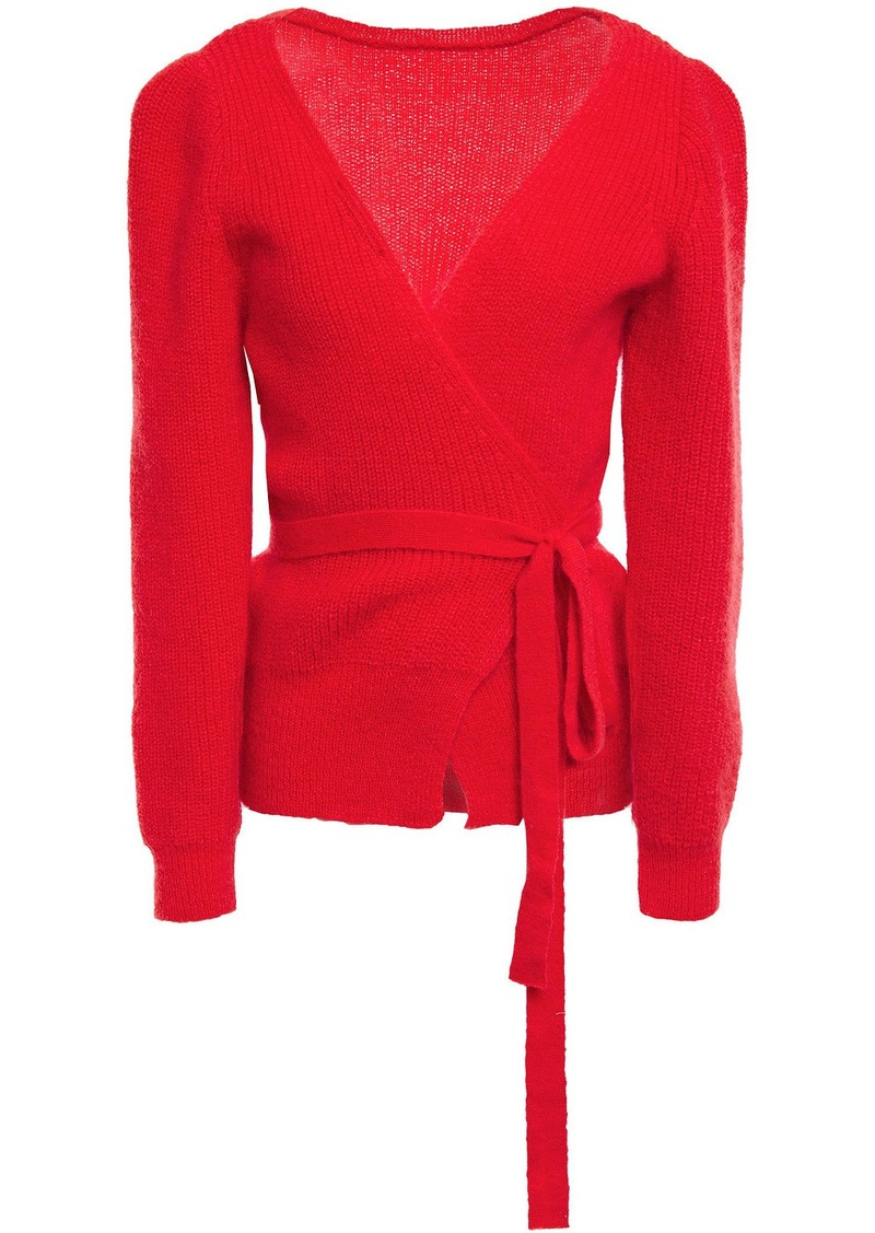 Alexachung Woman Mohair-blend Wrap Cardigan Tomato Red