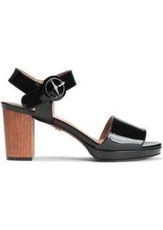 Alexa Chung Alexachung Woman Patent-leather Sandals Black