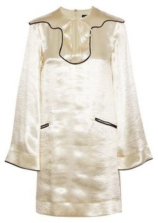Alexa Chung Alexachung Woman Satin-crepe Mini Dress Cream