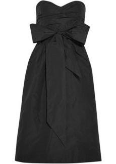 Alexa Chung Alexachung Woman Strapless Bow-embellished Taffeta Dress Black