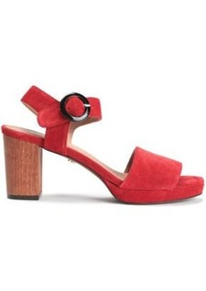 Alexa Chung Alexachung Woman Suede Sandals Crimson