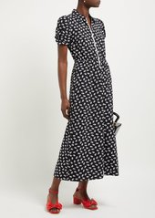 Alexa Chung Alexachung Zip-through floral-print crepe dress