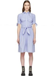 Alexa Chung Blue Pinstripe Dress