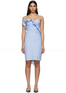 Alexa Chung Blue Ruched Dress