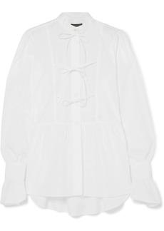 Alexa Chung Bow-detailed Cotton-poplin Blouse