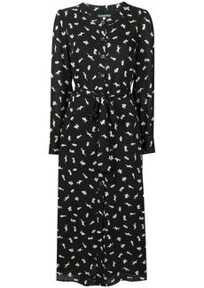 Alexa Chung bunny print shirt dress