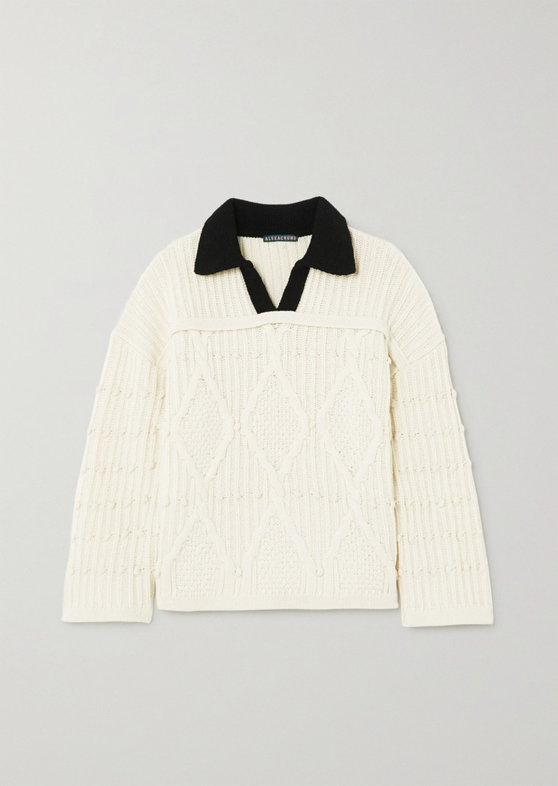 Alexa Chung Cable-knit Wool Sweater