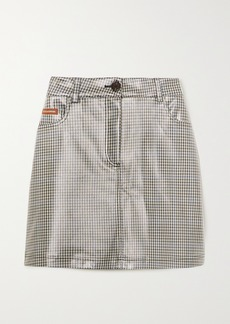 Alexa Chung Checked Coated-pu Mini Skirt