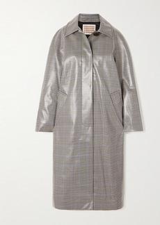 Alexa Chung Checked Coated-twill Trench Coat