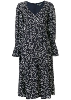 Alexa Chung clouds print longsleeved dress