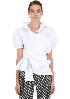 Alexa Chung Cotton Poplin Wrap Top