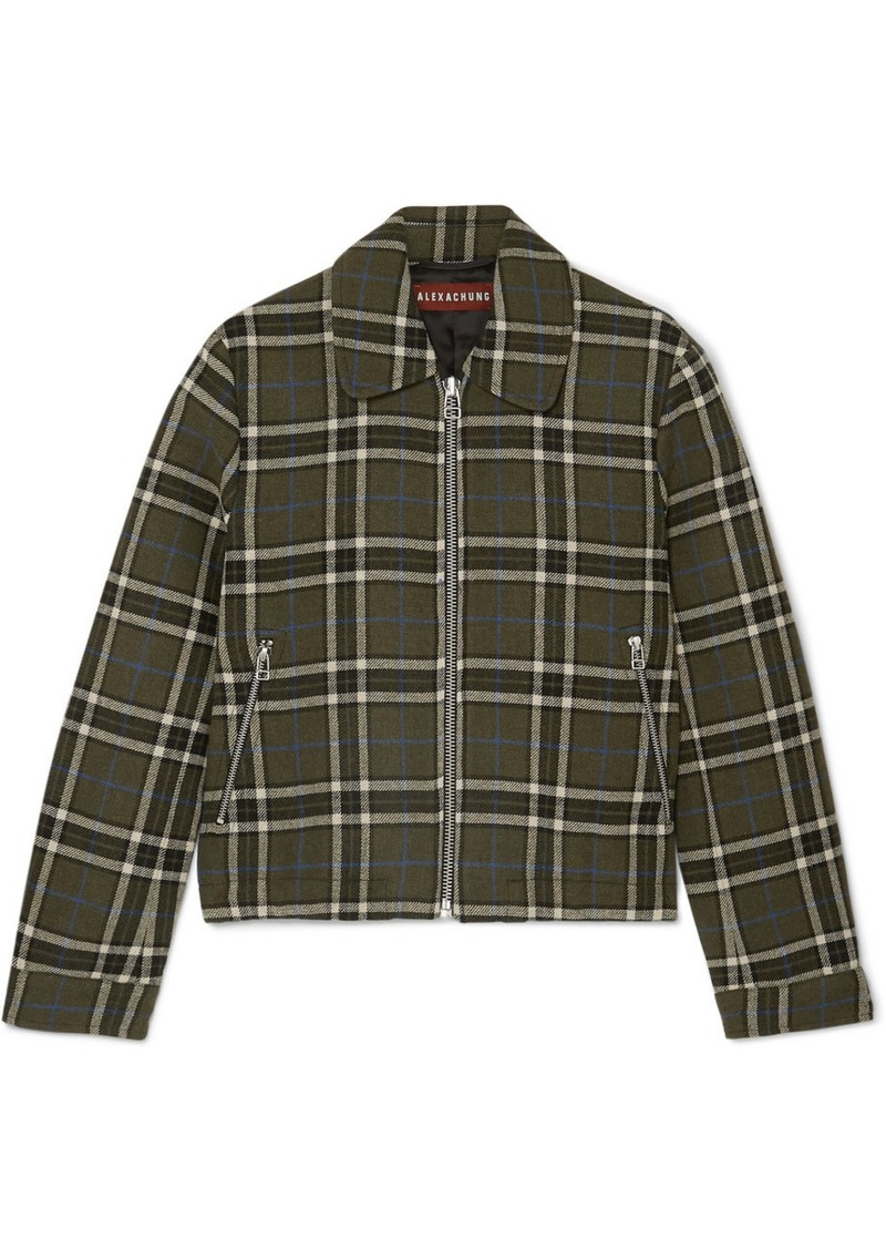 Alexa Chung Cropped Plaid Twill Jacket