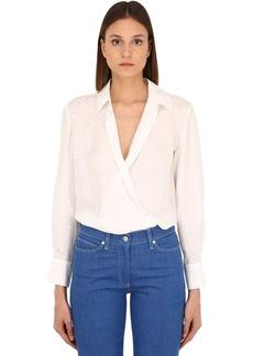 Alexa Chung Cross Over Silk Shirt