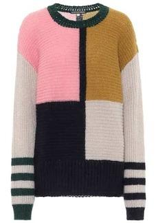 Alexa Chung Dora colorblock oversized sweater
