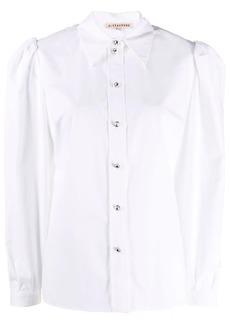 Alexa Chung embellished-button puff-sleeve shirt