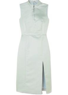 Alexa Chung Embellished Satin Dress
