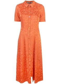 Alexa Chung floral embroidered shirt dress