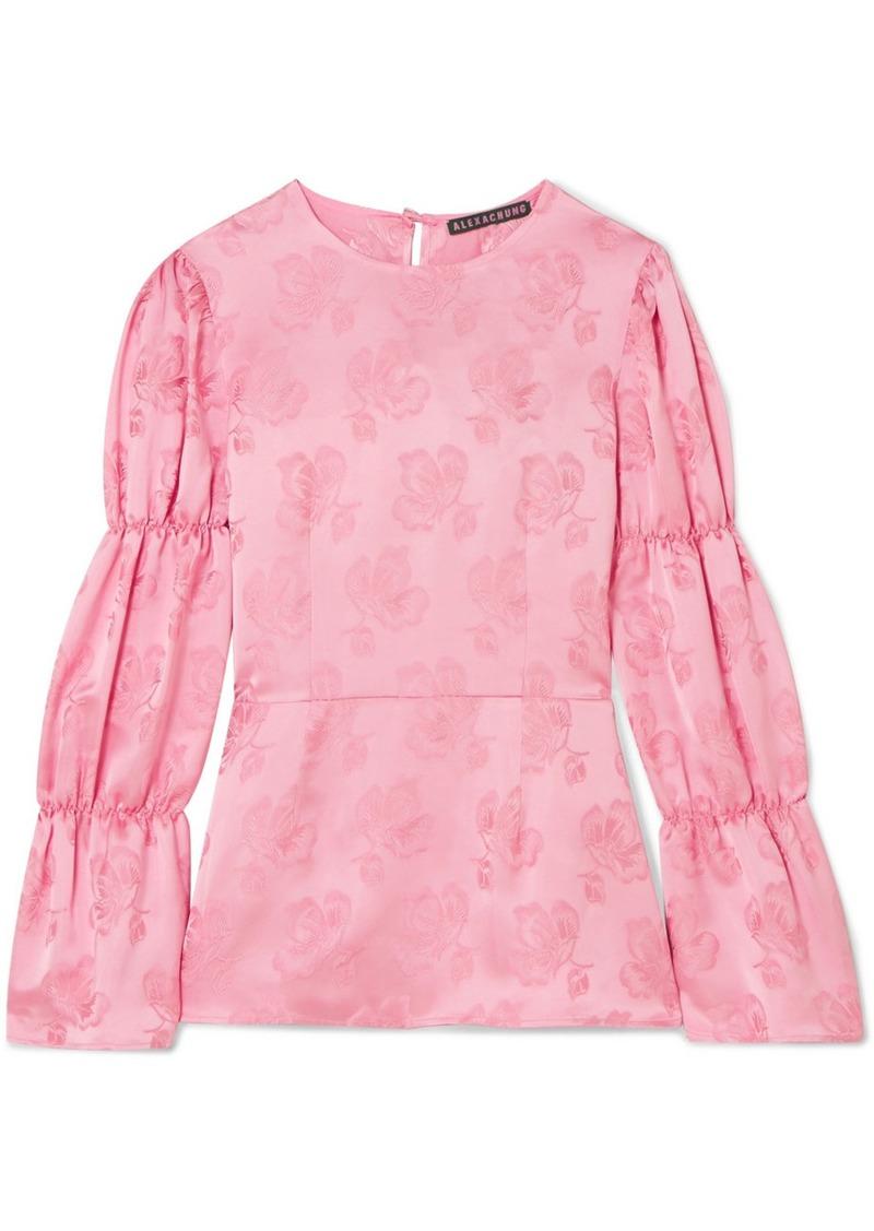 Alexa Chung Floral-jacquard blouse
