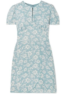 Alexa Chung Floral-print Crepe De Chine Mini Dress