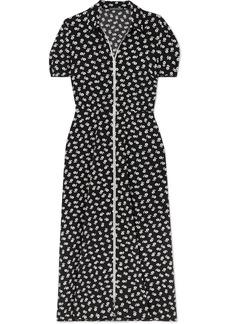 Alexa Chung Floral-print Crepe Midi Dress