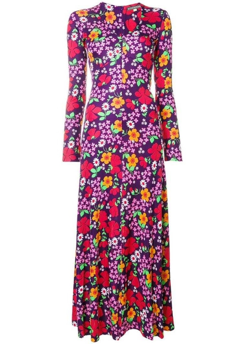 Alexa Chung floral print maxi dress