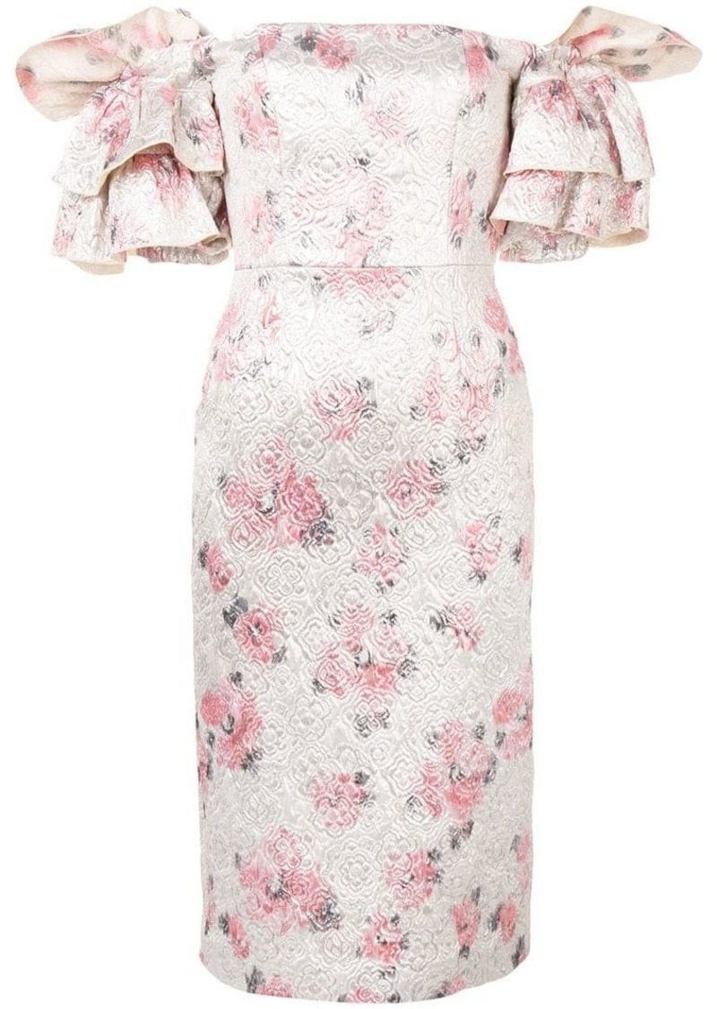 Alexa Chung floral puff-sleeve dress