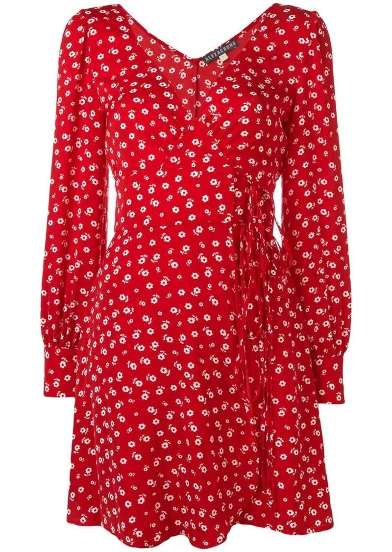 Alexa Chung floral wrap dress