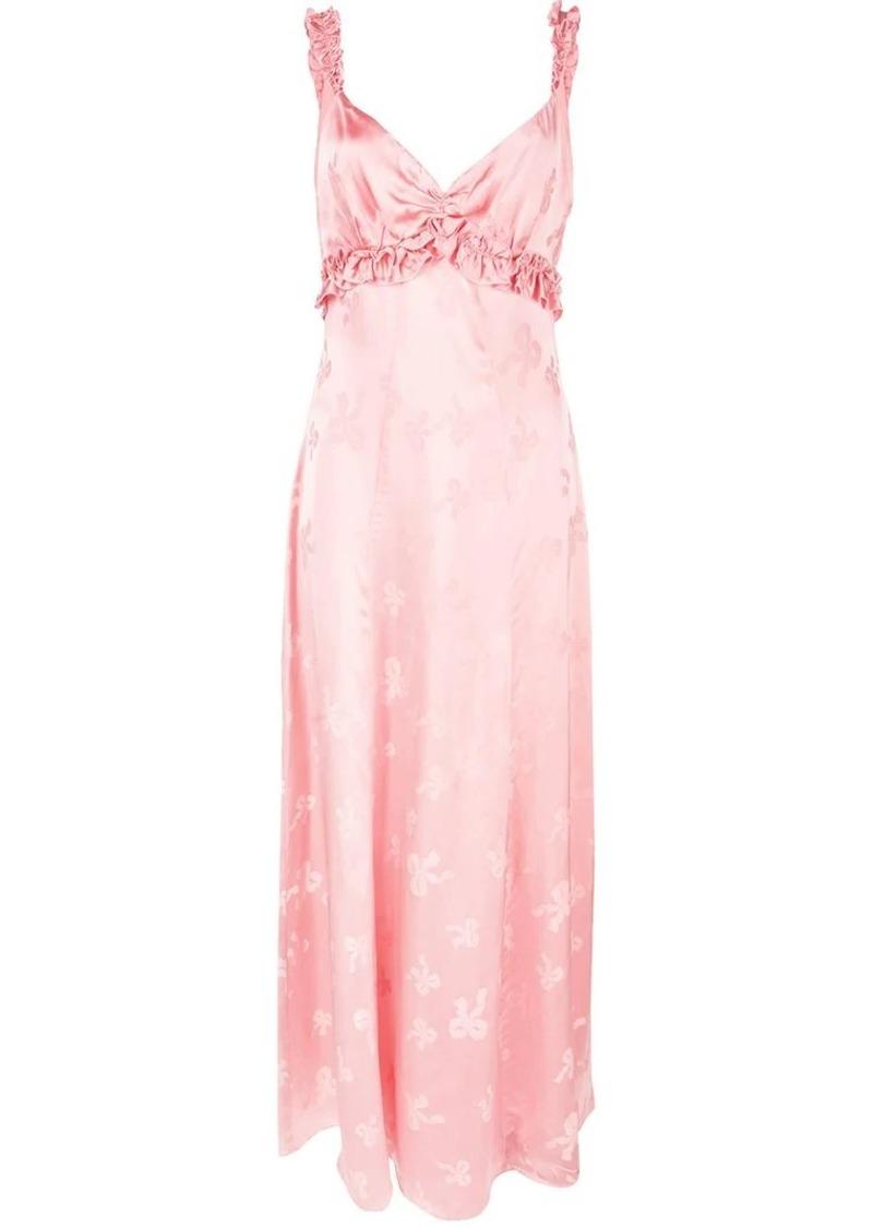 Alexa Chung frill detail empire dress