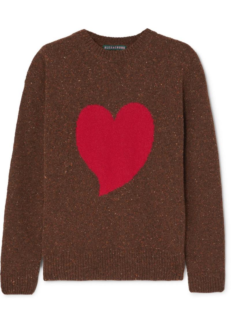 Alexa Chung Heart Intarsia Wool-blend Sweater