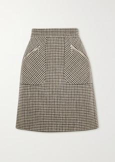 Alexa Chung Judy Houndstooth Woven Mini Skirt