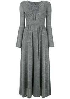 Alexa Chung key-hole flared dress