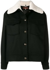 Alexa Chung knitted collar field jacket