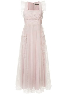 Alexa Chung long tulle dress