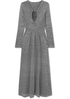 Alexa Chung Metallic Stretch-knit Maxi Dress