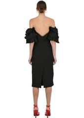 Alexa Chung Off The Shoulder Midi Dress W/ Ruffles